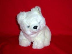 Arctic White Polar Bear 1997 retired 8 inches TY plush teddy bear