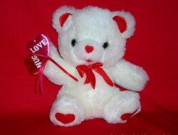 Secret Hug Valentine's teddy bear w/ Love and Hug Hearts 1995
