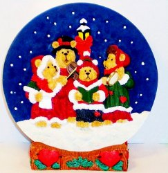 Hills Heart Patch Place Bear Carolers First Edition Plate