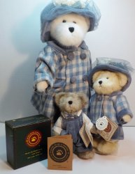 Boyds Bears Momma Bearsworth, Mary-Margaret & Stuart QVC 2001
