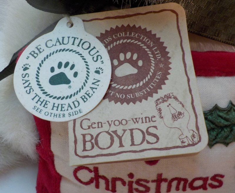 Boyds Christmas Bear 2002 QVC retired (1988-2002)