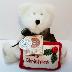Boyds Bear Gladys Tidings Christmas Bear 2002 QVC