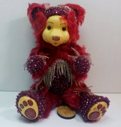 Robert Raikes Bedazzled Birthstone Bears January Garnet 2001