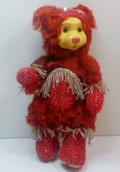 Robert Raikes Bedazzled Birthstone Bears July Ruby 2001