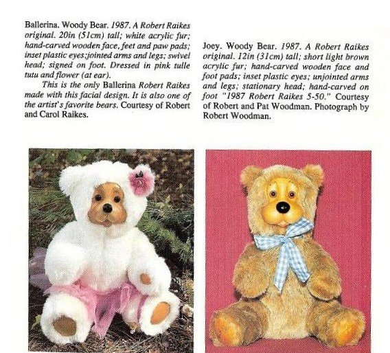 Image 4 of Robert Raikes Bears Woody Bear Joey 1987 No 4 of 50 Rare carved by R Raikes