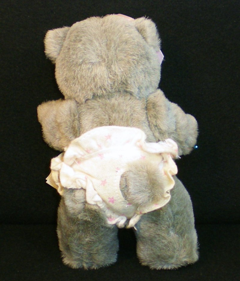 Image 2 of Robert Raikes Bear Alison and cradle Nursery Miniatures 1990