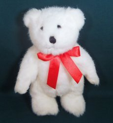 Danbury Mint Exclusive gift Teddy Bear white plush