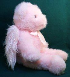 '.Faithful Pink Angel teddy bear.'