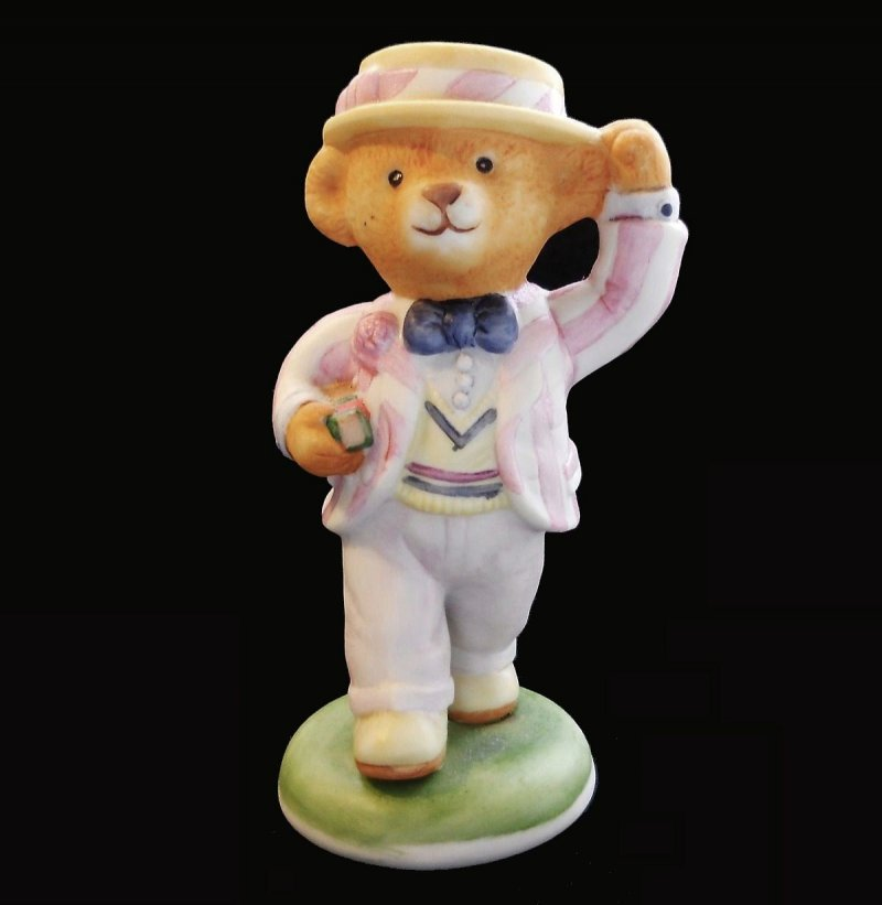 Hotel Teddington Porcelain Teddy Bear figurines designed by Carol Lawson