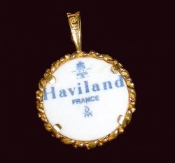 '.The Haviland Pendant France.'