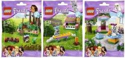 Lego Friends Series 2 hedgehog 41020, bunny 41022, poodle 41021