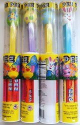 Pez Easter Egg and Bunny tube pack 2013 release set of 4