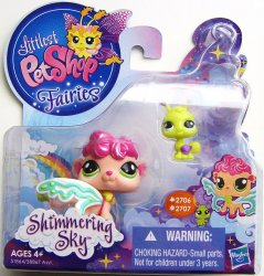 Littlest Pet Shop Shimmering Sky Fairies Sea Breeze 2706 Ant 2707