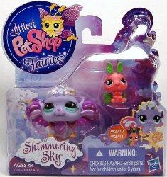 Littlest Pet Shop Shimmering Sky Fairies Morning Haze 2710 Luna Moth 2711
