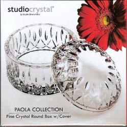 '.Studio Crystal Paola Round box.'