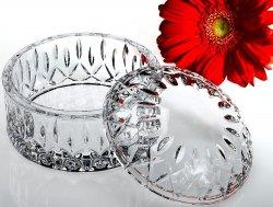 Studio Silversmiths Round Crystal Jewel Box Paola Collection