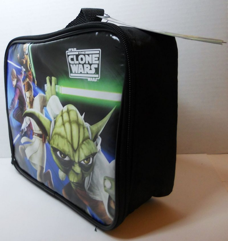 Star Wars Clone Wars Insulated Lunch Tote With Green