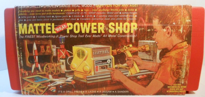 Mattel Real Power Shop Woodworking Jr Tools Kit 1964