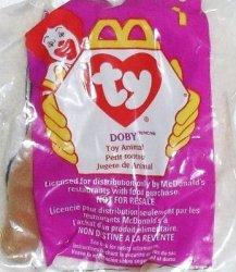 McDonalds TY Teenie Beanie Doby the Doberman 1 1998