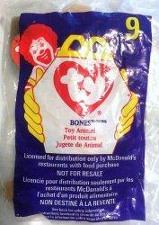 McDonalds TY Teenie Beanie Bones the Dog 9 1998