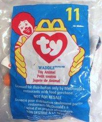 McDonalds TY Teenie Beanie Waddle the Penguin 11 1998
