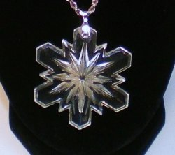 Australian Cut Crystal Snowflake Pendant Necklace