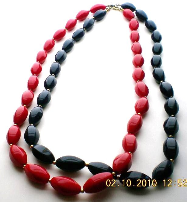 Vintage faceted beaded necklaces