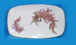 Gerold Porzellan plate tray with heather flowers platter