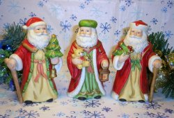 Homco Santa figurines Home Interiors 5610 Set of 3