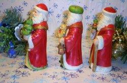 '.Homco Santas figurines.'