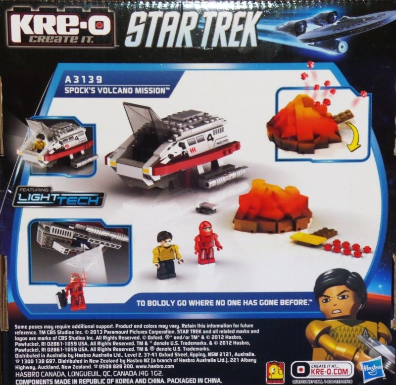 KRE-O Star Trek Spocks Volcano Mission Construction Set A3139 Sonstige