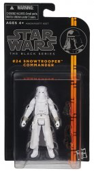 Star Wars Black Series Snowtrooper Commander #24 figure 3.75 in orange