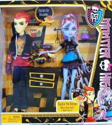 Monster High Classroom Heath Burns & Abbey Bominable Home Ick 2 pk