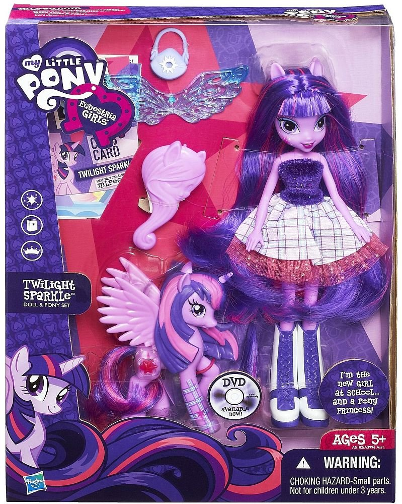 My Little Pony Equestria Girls Twilight Sparkle Doll And