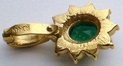 '.Emerald Green Crystal Pendant.'