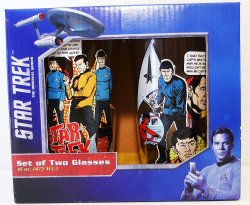 Star Trek The Original Series 16 oz set of 2 glasses