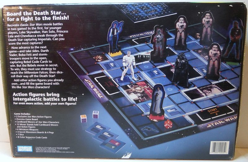 Star Wars Escape the Death Star Game w/action figures 2000