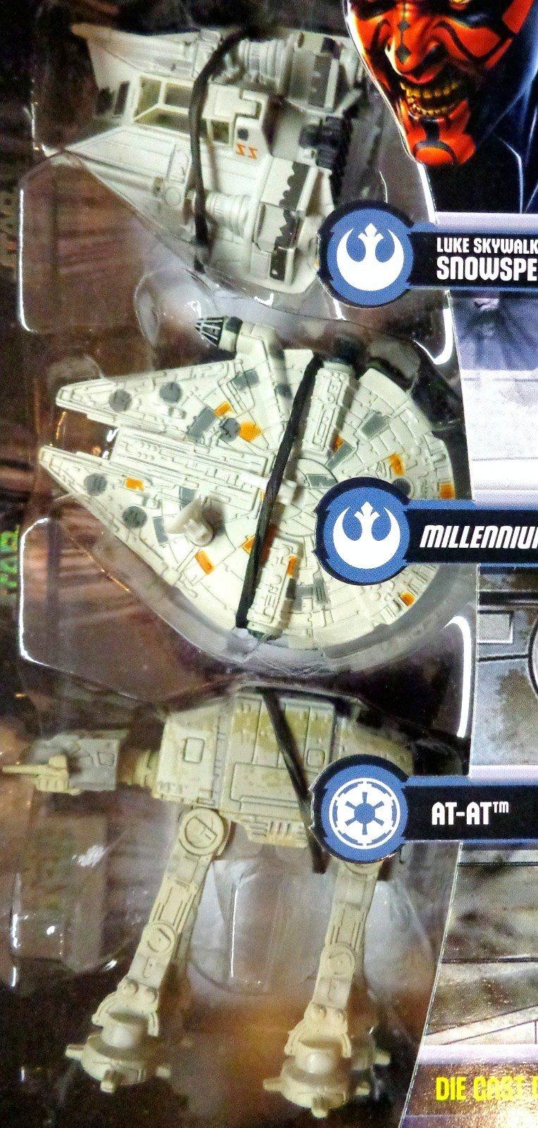 Die Cast Titanium Snowspeeder, Millennium Falcon, AT-AT