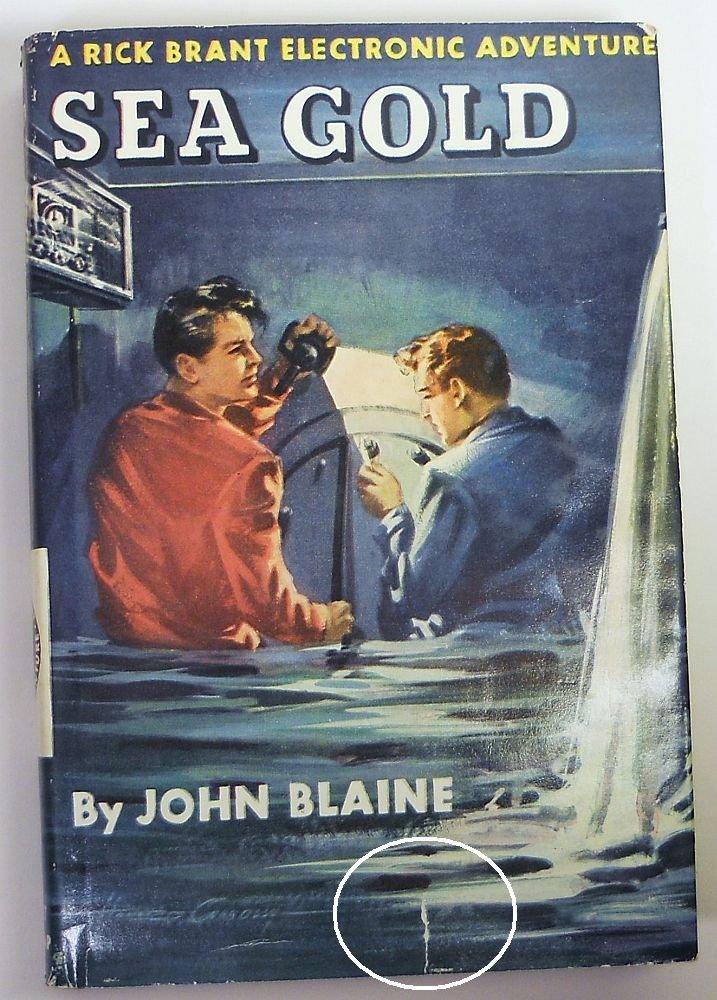 RICK BRANT SCIENCE ADVENTURE John Blaine novel - Egyptian Cat Mystery #16 w/DJ