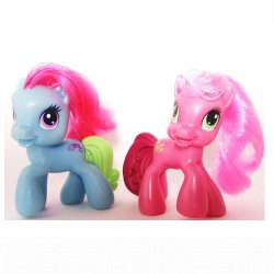 My Little Pony McDonalds 2009 Cheerilee Rainbow Dash G3.5 loose
