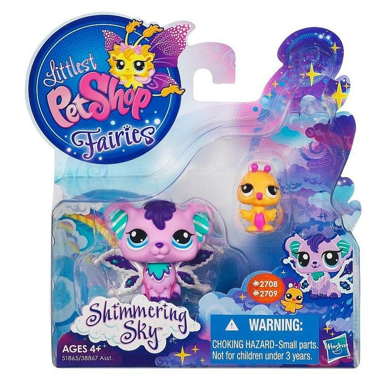Littlest Pet Shop Shimmering Sky Fairies Sprinkle Fog 2708 Hummingbird 2709