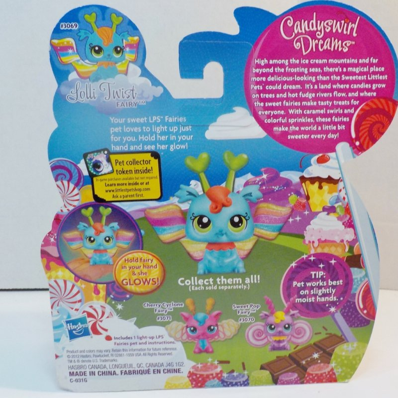 Littlest Pet Shop Light up glow Fairies with Pet Collector Token