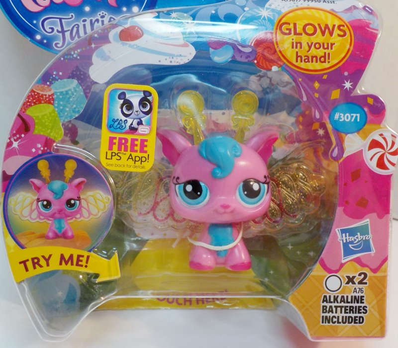 Littlest Pet Shop Light up glow Fairies wit Pet Collector Token
