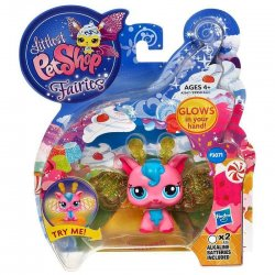 Littlest Pet Shop Fairies Cherry Cyclone 3071 Light up glow fairy