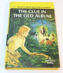 Nancy Drew #24 The Clue in the Old Album picture cover blue EP original text