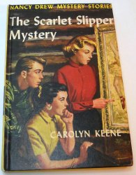 Nancy Drew #32 The Scarlet Slipper Mystery blue EP picture cover original text