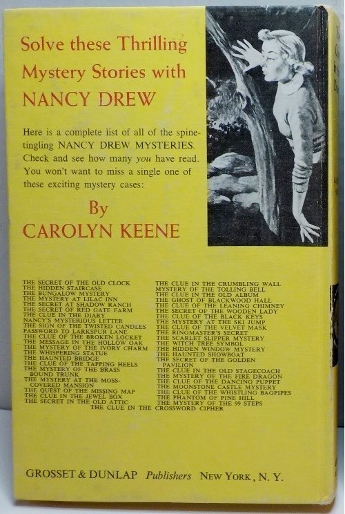 Nancy Drew Mystery #7 with early white endpapers, picture cover 1967