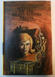 Nancy Drew #17 The Mystery of the Brass-Bound Trunk picture cover Carolyn Keene