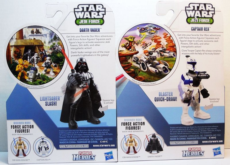 Darth Vader and Captain Rex Playskool action figures