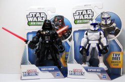 Star Wars Jedi Force Darth Vader and Captain Rex Playskool action figures